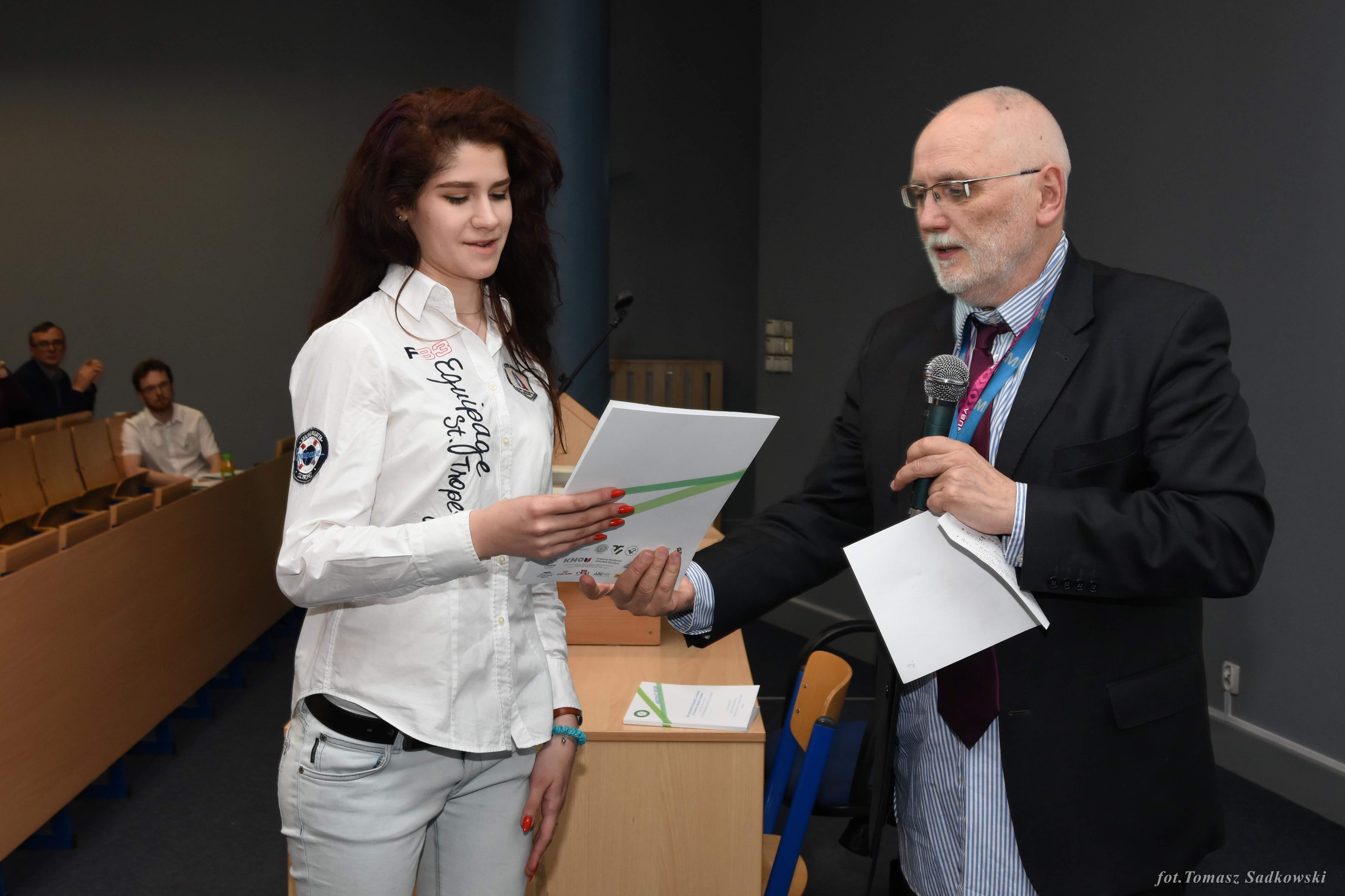 V. Gladyshko receiving a special award funded by Polish Equestrian Association