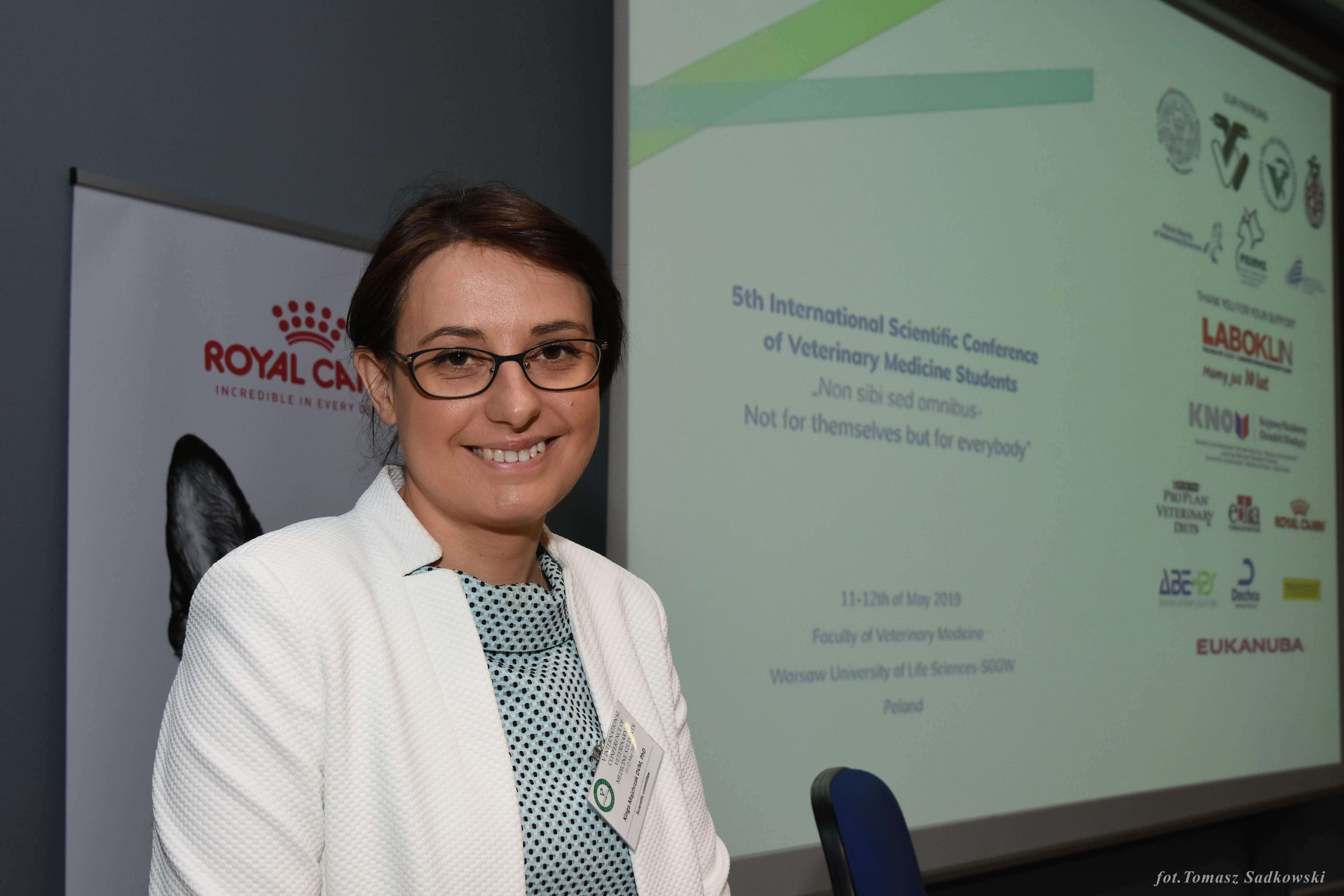 Dr Majchrzak during lecture