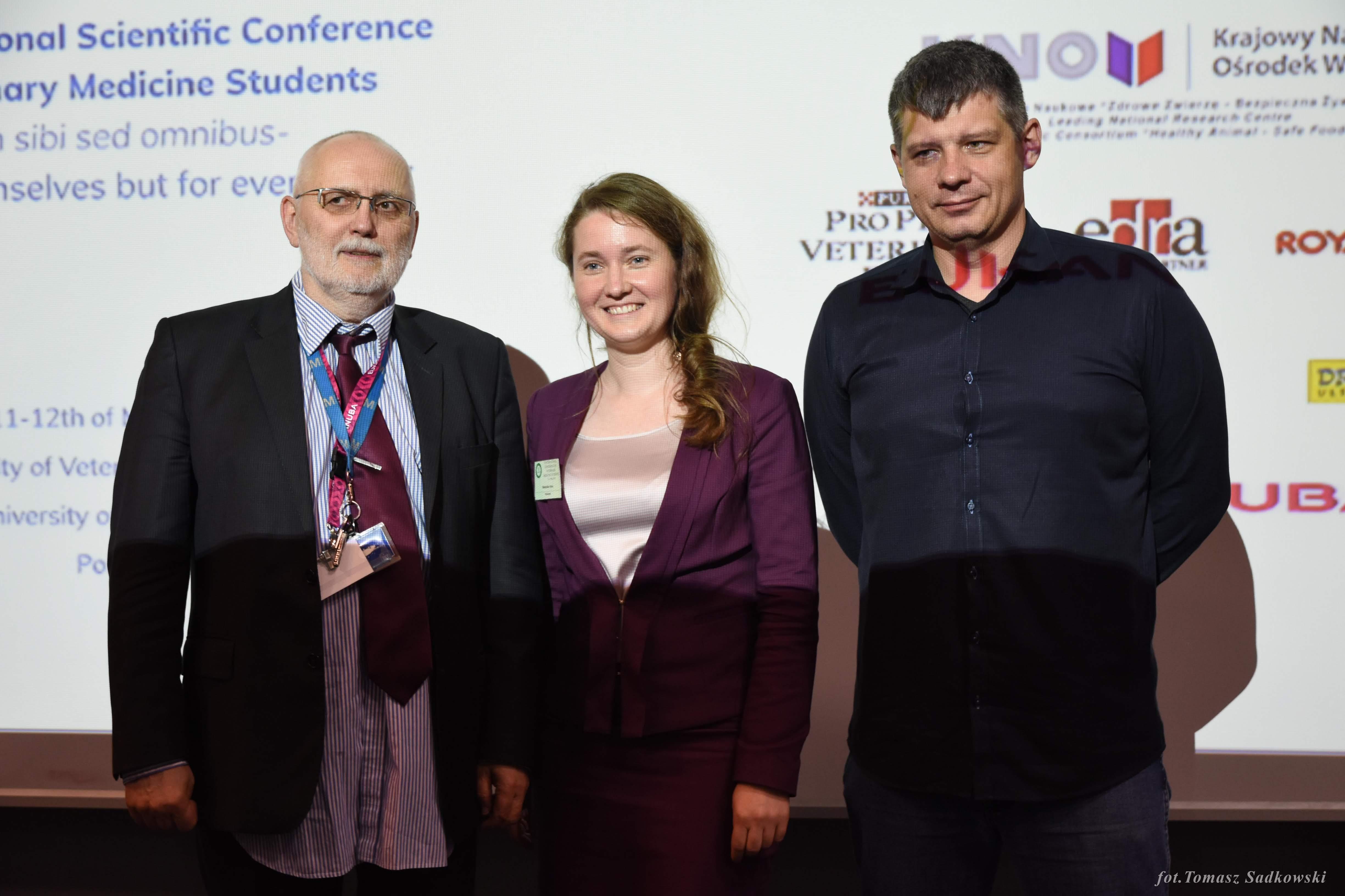 DVM Iryna Makovska, prof. Orzechowski, dr hab Witkowski