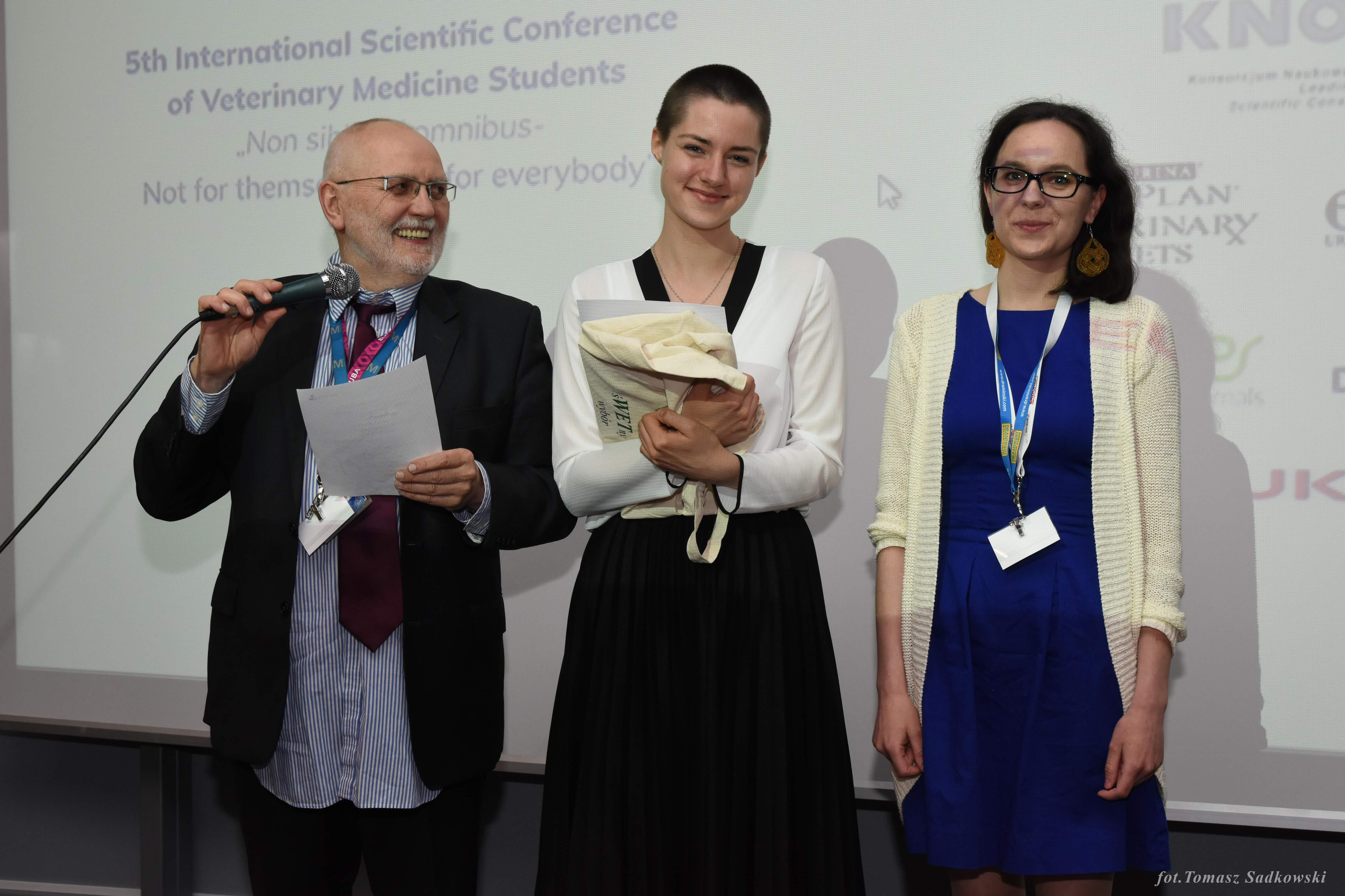 Magdalena Walczak awarded in wildlife&exotic sciences session