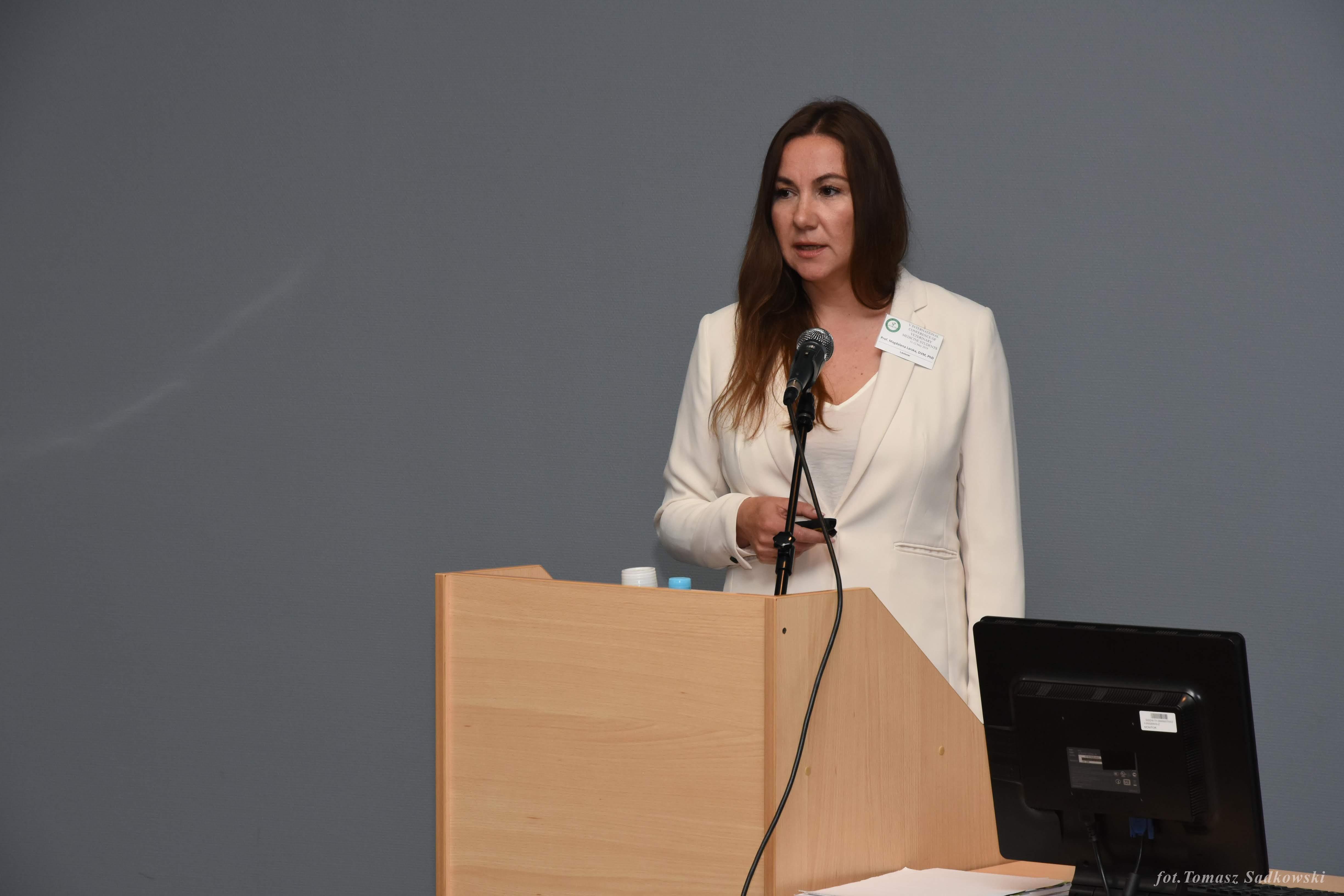 Prof. Larska during lecture